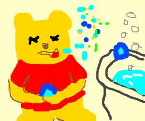 Winnie the Pooh on bath salt