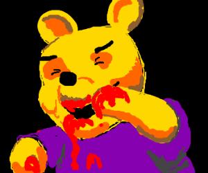 satanic winnie pooh eats blood