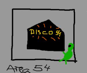 Area 54 becomes a disco