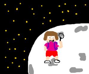 Dora explores the moon