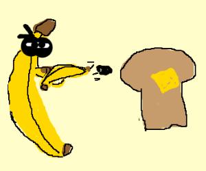 Здесь Бандит Банан перешел