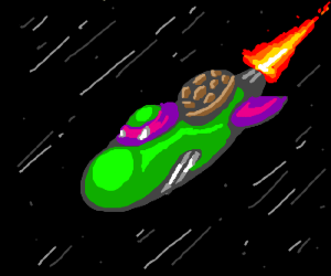 Donatello is a spaceship!
