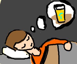 person dreaming of lemonade