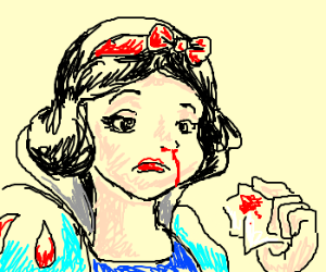 Snow White Gets a Nosebleed