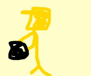 Yellow enderman