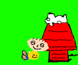 stewie and brian as snoopy and charlie
