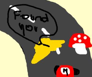 Thunder found mushroom (Mario Kart)