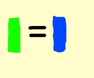 green = blue