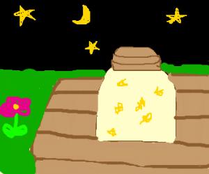 jar of lightning bugs