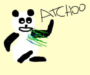panda's got a flu
