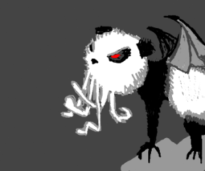 angry Cthulupanda is agry