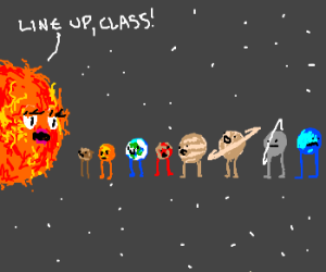 All the planets line up with the sun
