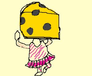 big cheese-head ballerina