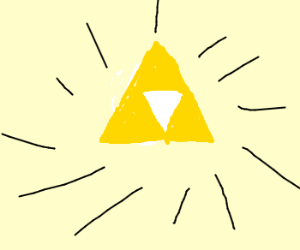 The Triforce in all it's glory.