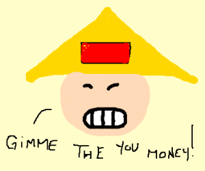 Asian man wants your money