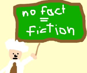 No fact=fiction