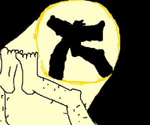 Foot shadow Puppetry