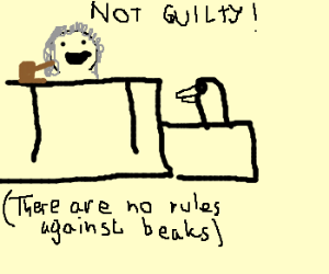 Judge No rules against beaks