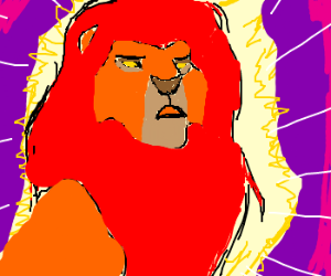 """Mufasa in the clouds, """"Rememberrrr"""""""
