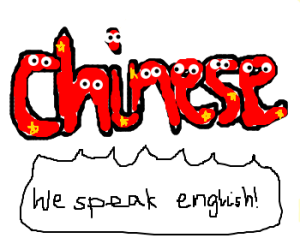 Chinese speaks english