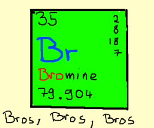Bromine, the broest element.