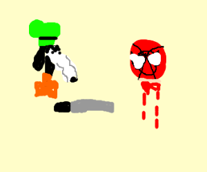 gooby kills spoderman