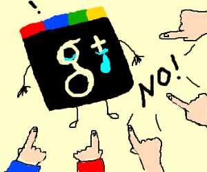 NO google plus
