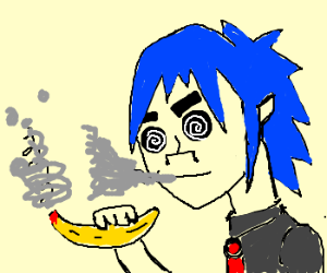 Gorillaz singer smoked too many bananaz