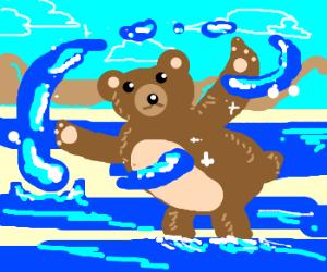 Blonde Bear is a Water Bender