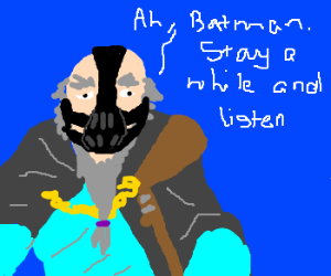 Deckard Cain as Bane or vice versa