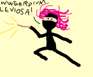 Hogwarts student becomes ninja,pink hair