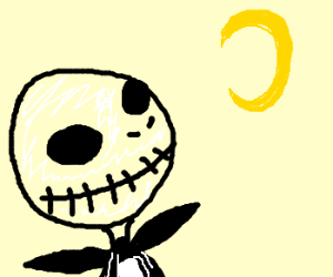Jack Skellington stares at moon