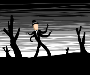 Fancy slenderman goes for a walk