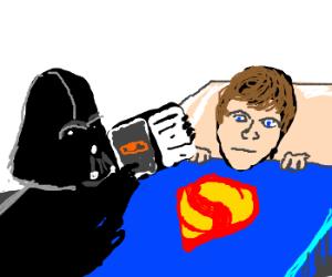 Darthvader tellin Luke bedtime stories