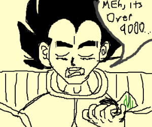 what a shocker it's over 9000