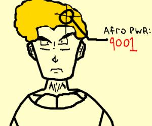 Afro ninja Goku has over 9000 power!