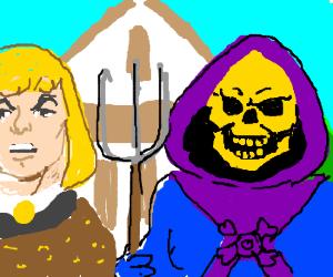 Skeletor becoms a farmer