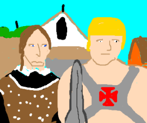 He-Man and the American Gothic painting