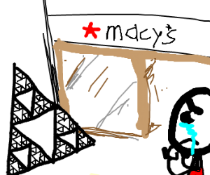 Crying at macys with Sierpiński triangle