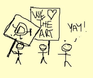 Drawception support rally