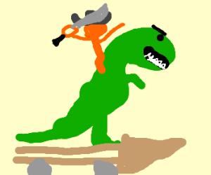 Lets ride the balista t-rex into battle.