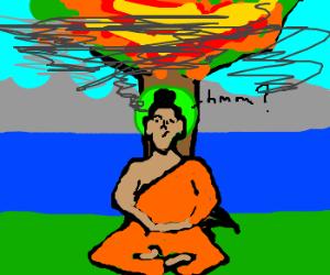 Prince Siddhartha's Bodhi Tree on fire