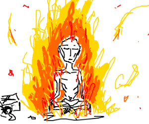 anorexic man self immolates
