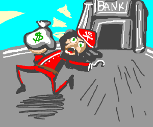 Captain Hook Bank robber