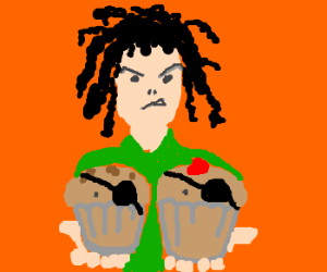 Rastafari hates eye-patched muffins