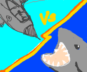 Fighter Jet Vs. Megashark (sky vs sea)