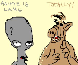 aliens talking about anime