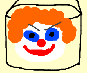 clown bucket's lookin at you