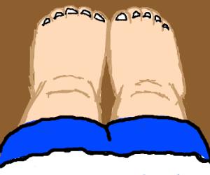 look at my toes