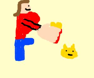 pikachu gives present